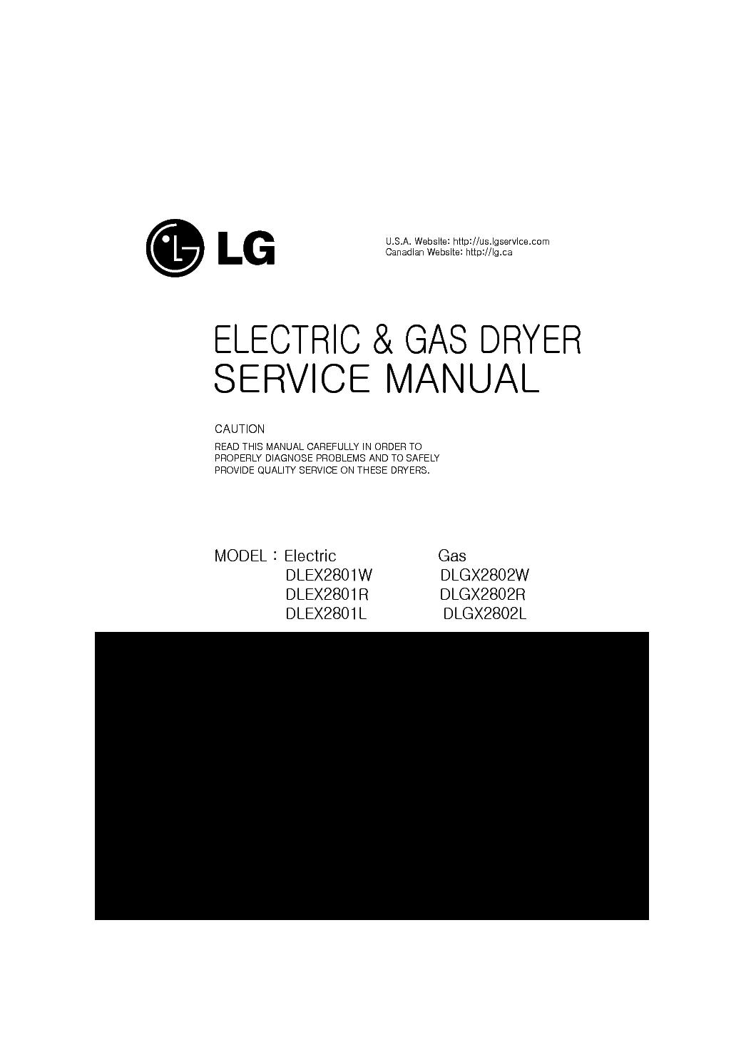 LG DLEX2801W[R][L] DLGX2802W[R][L] service